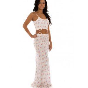 Acacia Santiago maxi dress in bird of paradise
